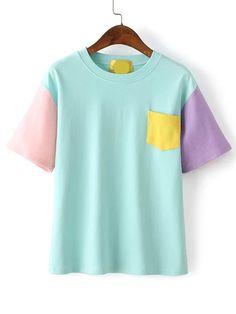Контрастная футболка