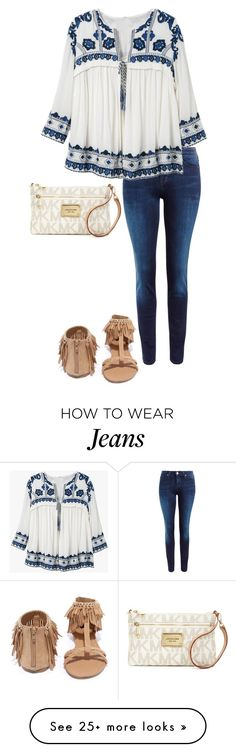 """I don't know what to say"" by livimay on Polyvore featuring Lee, Qupid and Michael Kors"