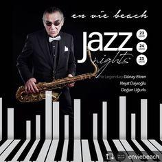 Günay Ekren Trio Get ready for some amazing Jazz Dayz in En Vie 23-25 March  For reservations call +902425111256 or send a PM www.solomuzik.com #legendary #saxophone #piano #guitar #fromistanbul #threedays #jazz #jazznight #ambiance #restaurant #wineanddine #amazingview #onthebeach #alanya