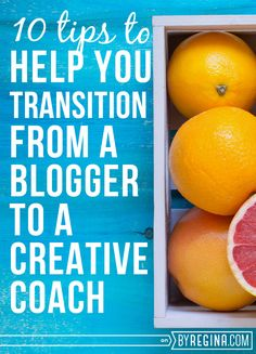 If you want to start offering coaching services, definitely check out these 10 Tips to Help You Transition from a #Blogger to a Creative Coach.