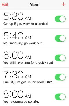 And waking up early for a workout is the surest way to make you not want to exercise.