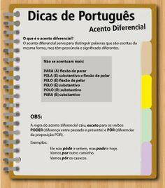 Português na tela: #dicasdasemana: AcEnTo DiFeReNcIaL