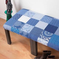 Learn How to Make an Easy Patchwork Fabric Bench