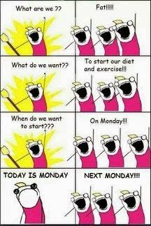 Haha! This was me. I finally started and plan on going all the way.