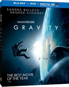 Gravity, an Oscar favorite, is out now on DVD and Blu-Ray. The Sandra Bullock and George Clooney starring epic from Alfonso Cuaron is a. Gravity 2013, Gravity Movie, George Clooney, Sandra Bullock, The Blind Side, Children Of Men, In Theaters Now, Sci Fi Thriller, Frames