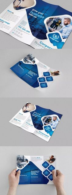 Design a stunning brochure in minutes. Get Brochure Design Services here. Showcase your business, products, and services when you create custom brochures. Tri Fold Brochure Size, Brochure Cover, Brochure Layout, Brochure Ideas, Tri Fold Brochure Template, Brochure Trifold, Medical Brochure, Business Brochure, Brochure Design Inspiration