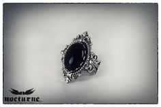 Black Onyx Victorian Ring - Ornate Gothic Ring - Victorian Gothic Jewelry by NocturneHandcrafts on Etsy https://www.etsy.com/listing/123271815/black-onyx-victorian-ring-ornate-gothic