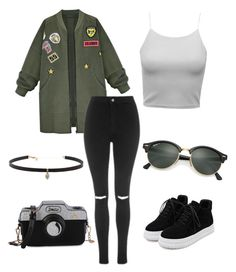 Untitled #1 by fashionstyleideas4now on Polyvore featuring polyvore, fashion, style, WithChic, Topshop, Carbon & Hyde, Ray-Ban and clothing
