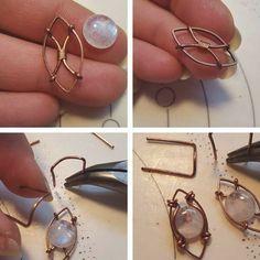 Wire Jewelry Designs, Handmade Wire Jewelry, Metal Jewelry, Artisan Jewelry, Jewelry Crafts, Beaded Jewelry, Geek Jewelry, Jewlery, Jewelry Necklaces