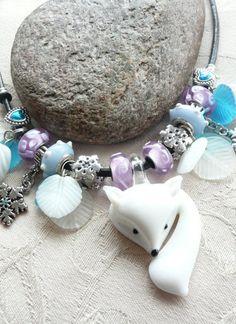Artic Fox Charm Necklace