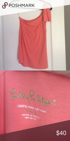 Lilly Pulitzer top It's a salmon colored top, no tags, but hasn't been worn much! Super cute but need to make more room in my closet! Lilly Pulitzer Tops Blouses