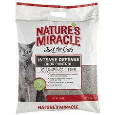 Nature's Miracle Intense Defense Clumping Litter, 20-Pound (P-5367)