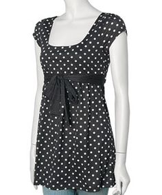 I like everything about this, the small polka dots, the bow, and the length (I like my shirts to hit pretty close to my hips or just under)