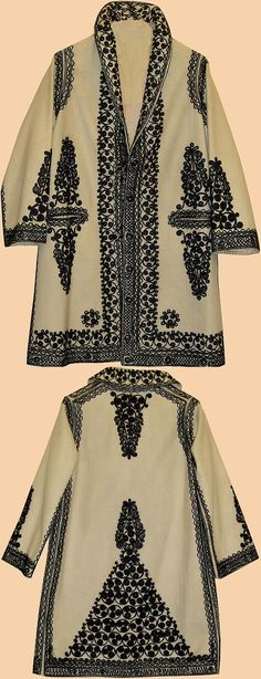 Antique Turkish Jacket, Silk Embroidery on Wool Ottoman Dynasty
