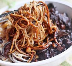 Korea-style noodles with fried bean sauce