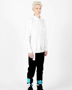 #SCOGE Creator 1 - White Strapped Button Down #Shirt available Tomorrow at www.SCOGE.co !! - Create & Destroy -  #menswear #mensfashion #mensblogger #streetstyle #style #fashion #clothing #design #thecreatorclass #contemporaryfashion www.scoge.co NYC Luxury Streetwear  Streetstyle  High Street