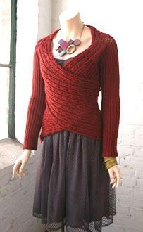 Knit Sweater Wrap This could be done on a knitting loom or knitting needles. The pieces are just rectangles and any number of stitches used.