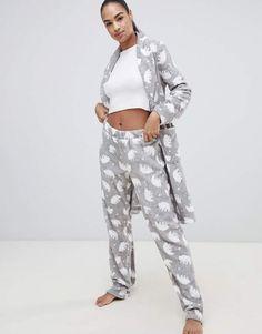 a8f144a28 Hunkemoller Polar Bear fleece pyjama pants in gray  Bear Polar Hunkemoller Polar  Pijamas