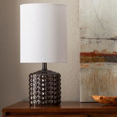 Geometric Ceramic Table Lamp - Bronze Glaze - Threshold™ : Target