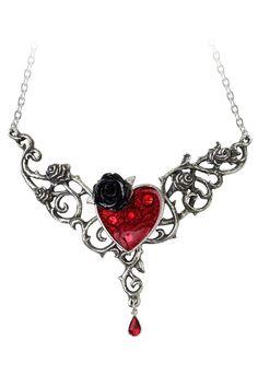 Alchemy of England Swarovski The Blood Rose Heart Necklace - Beyond the Rack