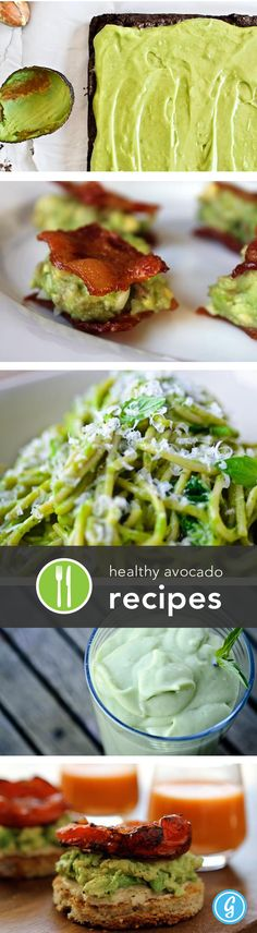 Healthy avocado recipes.