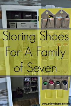 Storing Shoes For A Family of Seven #smallclosetstorage #nomudroom #govertical