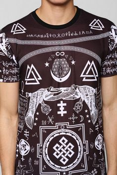 Stars & Symbols Tee... featuring a mutilated Psychick Cross...