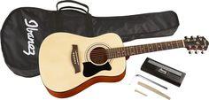 IbanezIJV30 Quickstart 3/4 Acoustic Guitar PackNatural