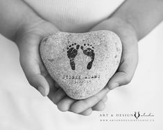 Memorial Art Print | Baby Footprint Art | Baby Loss Memorial Gift  A beautiful sympathy art print to in memorial of your loved one, baby loss, or infant loss. ➤ This listing is for one, personalized ART PRINT. (If you have a footprint or handprint graphic for your baby, I can use them). Other sizes available: http://etsy.me/1aRVTcG ........................................... ORDERING ✦ Add the item to your cart ✦ In notes to seller indicate text (name, date, quote, punctuation) ✦ Indicate…