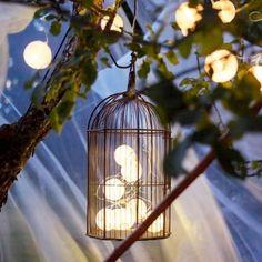 Terrasse luminaire cage