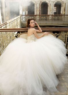 Very full tulle skirt with fitted bodice
