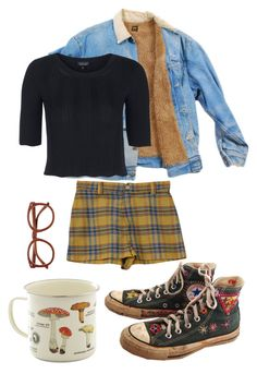 """What a long strange trip it's been"" by wintersrabbit ❤ liked on Polyvore featuring Converse and Topshop"