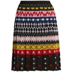 Mary Katrantzou Mandy motif-jacquard pleated skirt
