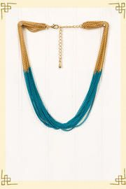 Two Can Tangle Necklace in Turquoise.. looks cute with the Lovely Lines Dress