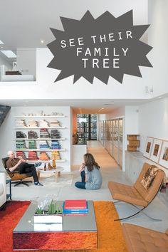 Cool way to do a bookshelf.