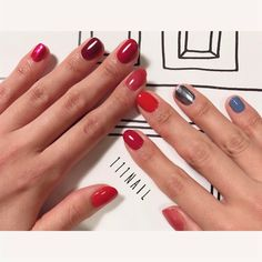 my nail ◽️▫️◼️▫️ブルーのスパイス▫️ #nail#art#nailart#ネイル#ネイルアート #ワンカラー#red#metallic#シンプルネイル#ショートネイル#nailsalon#ネイルサロン#表参道#シンプル111#red111