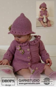 Ravelry: b14-5 Little Miss Berry Cardigan pattern by DROPS design