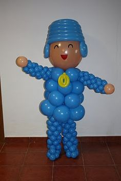 Awesome pocoyo balloon figure!! #pocoyoparty Find all the party supplies you need at partyweb.us