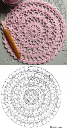 Material: 2 cones do fio Liza Amo tapetes desse modelo e nes Crochet pattern for Abigail rug, size A pdf file will be sent to your email instantly after payment is received. The pattern is written very clearly upon 7 pages and includes a crochet chart. Crochet Doily Rug, Crochet Placemats, Crochet Pillow Pattern, Crochet Mandala Pattern, Crochet Chart, Crochet Hooks, Pillow Patterns, Crochet Vintage, Unique Crochet