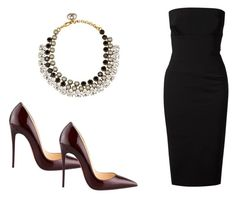 """""""445 outfit"""" by julieannbb13 ❤ liked on Polyvore featuring Victoria Beckham, Christian Louboutin and Gucci"""