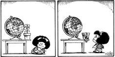 Mafalda -  ¡Necesitamos Paz! We need Peace!  Plus de Paix!  Altro Pace! Mehr Frieden! Mais paz! In our world.