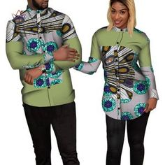 african dress styles Bazin Riche Couples Clothes Women and Men Patchwork Print Shirt African Clothes for Lovers Traditional African Clothing Couples African Outfits, Latest African Fashion Dresses, African Dresses For Women, Couple Outfits, African Print Fashion, African Shirts For Men, African Attire For Men, African Clothing For Men, African Wear