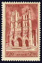 La cathédrale d´Amiens - Timbre de 1944