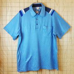 【ヒルトン】古着USA(アメリカ)製プルオーバーボーリングシャツ半袖ライトブルー(水色)BobSdunitt【Hilton】