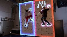 Augmented Climbing Wall Combines Rock Climbing With Augmented Reality Projection & Body Tracking