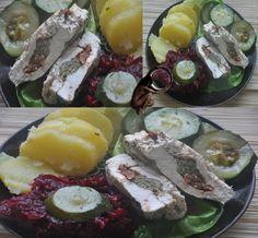 piersi nadziewane kaparami i pomidorami z oliwy