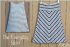 (This website has tons of simple FREE patterns to sew) Tutorial: The Everyday Skirt from stretch knit fabric – Sewing