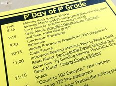 The First Day of 1st Grade. FREE lesson plans and activity ideas from The Brown Bag Teacher