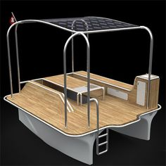Marine picnic on the lake of Zurich in Switzerland. But how often do you think of a motor boat in the lake that is equipped with grill, table and small refrigerator,.Float is a solar powered boat that runs two motors empowered by solar energy and is able to run 7-10 km/h while carrying up to six people at a time.