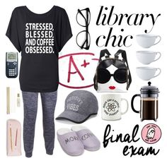 """Finals Week: Stay Positive!"" by dressedbymymom ❤ liked on Polyvore featuring Kate Spade, Under Armour, Juliska, Tek Gear, New Directions and EyeBuyDirect.com"